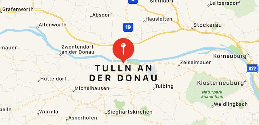 Cosa vedere a Tulnn, mappa