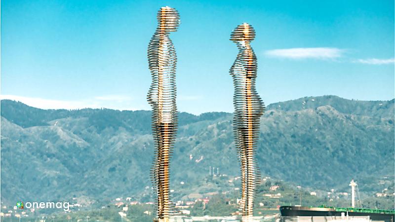 Cosa vedere a Batumi, statua di Ali e Nino