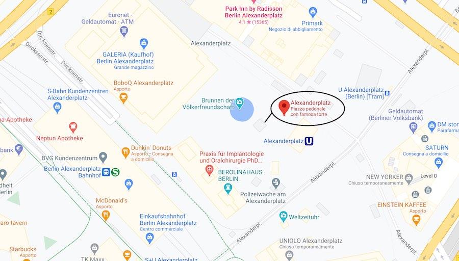 Berlino, Alexanderplatz mappa