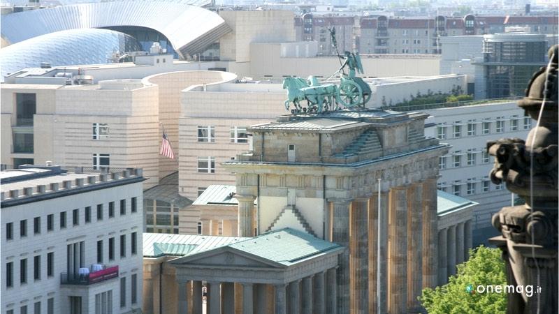 La Porta di Brandeburgo di Berlino, statua con i quattro cavalli