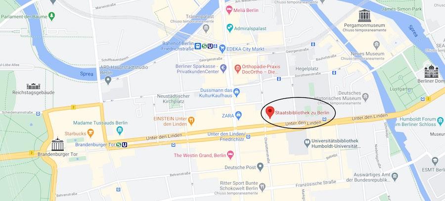 Biblioteca di Stato di Berlino, mappa