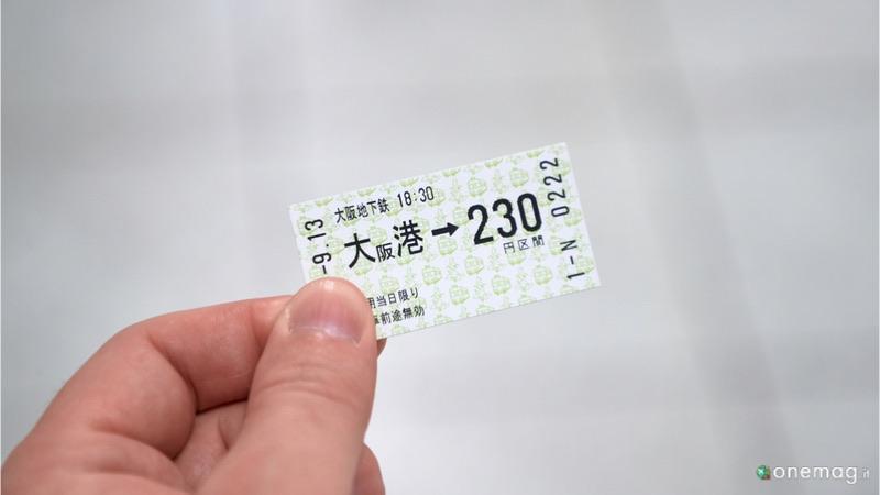 Come muoversi a Osaka, biglietto metropolitana