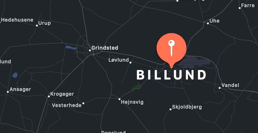 Cosa vedere a Billund, mappa
