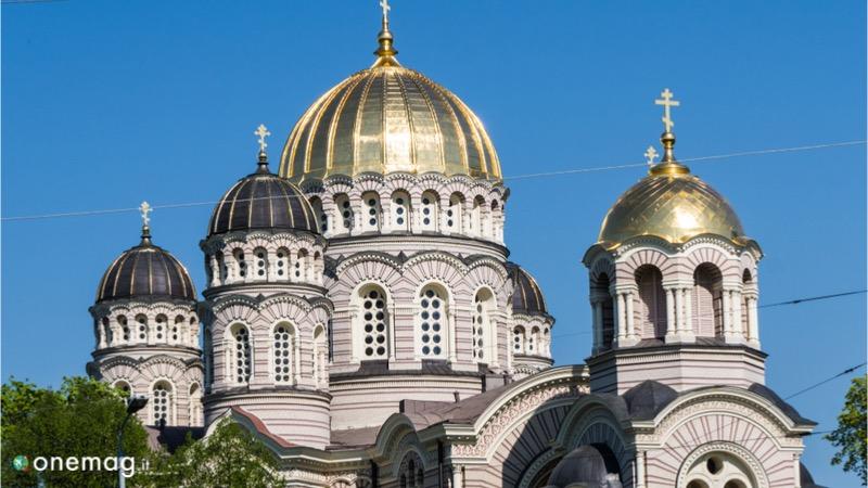 La Cattedrale della Natività di Riga, veduta delle cupole esterne