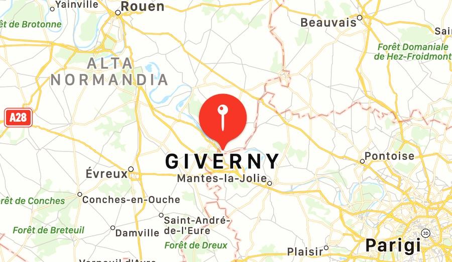 Cosa vedere a Giverny, mappa