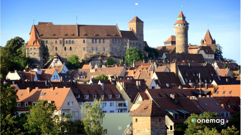 Il castello imperiale di Norimberga, veduta