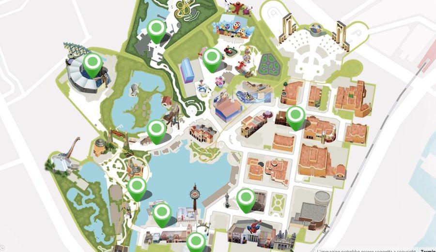 Universal Studio Japan, mappa del parco