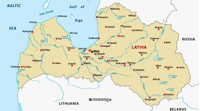 Cosa vedere a Riga, mappa