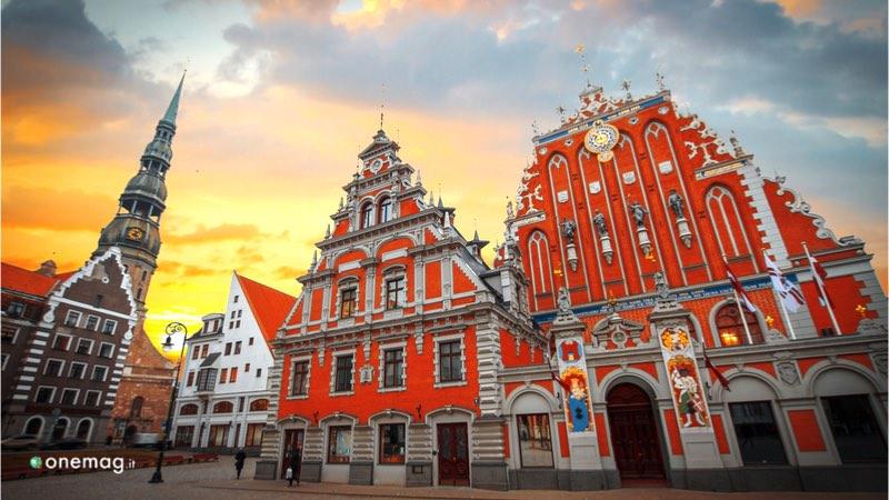 La città vecchia di Riga, il Municipio