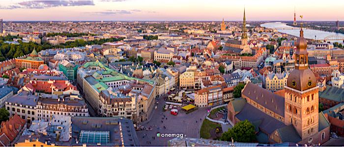 Cosa vedere a Riga, il centro storico veduta dall'alto