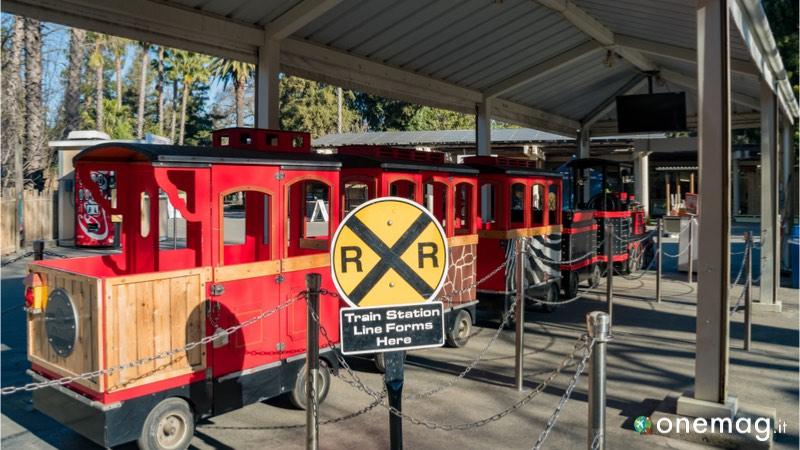Lo zoo di Sacramento, il trenino che conduce alle varie gabbie