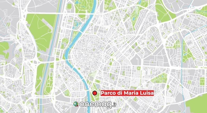 Mappa di Parco di María Luisa, Siviglia