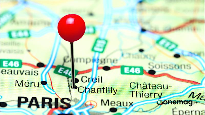 Chantilly, mappa