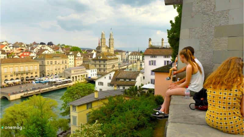 Quartiere Lindenhof di Zurigo, veduta dal quartiere medievale