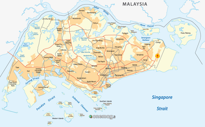 Cosa vedere a Singapore, mappa