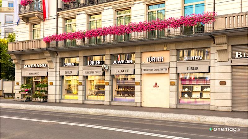 La Banhofstrasse di Zurigo