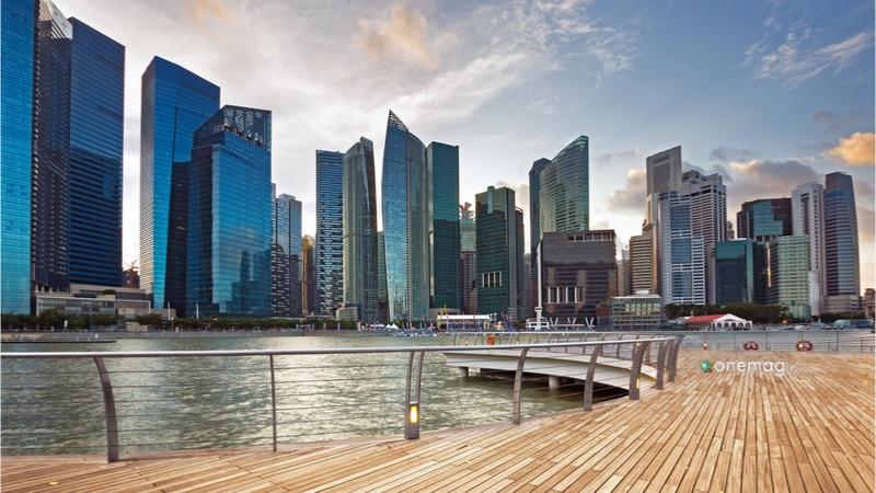 Il quartiere Chinatown di Singapore, veduta