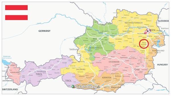 Mappa di Wiener Neustad