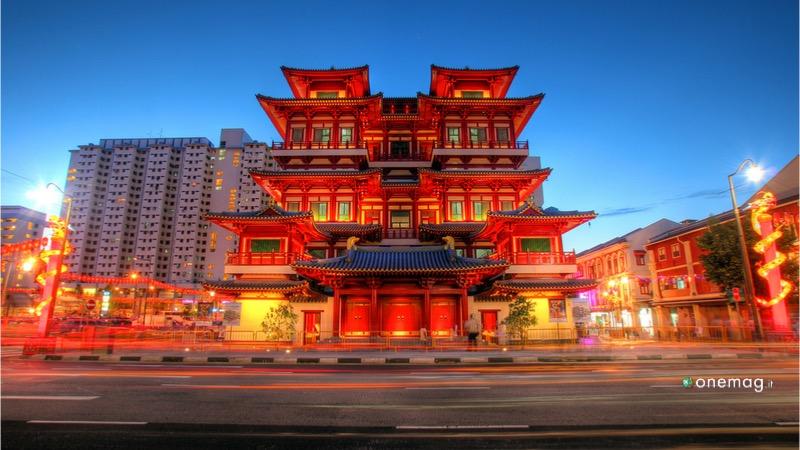 Il quartiere Chinatown di Singapore, il Tempio di Buddha