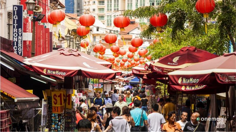 Il quartiere Chinatown di Singapore, bazar