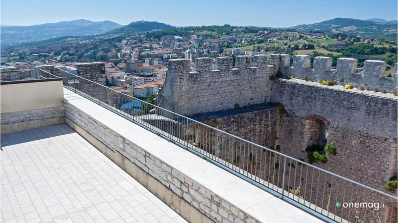 Cosa vedere al Castello Monforte di Campobasso, veduta della città dal castello