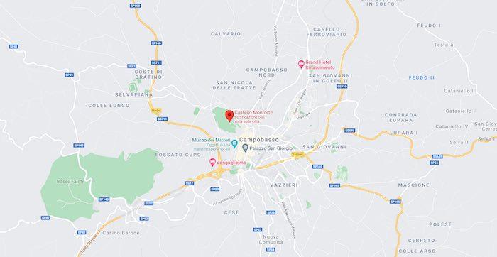 Cosa vedere al Castello Monforte, mappa