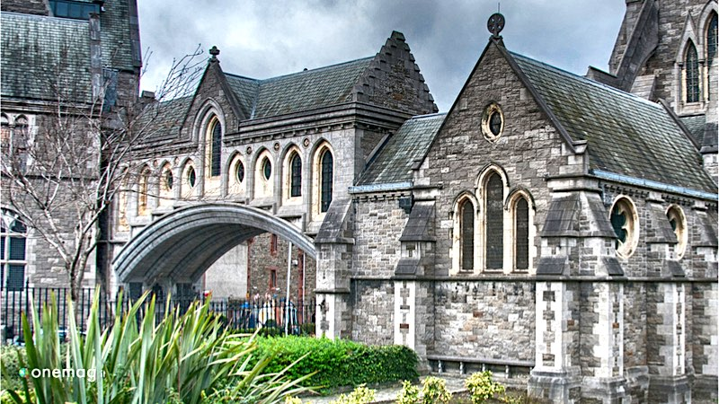 La Cattedrale di San Patrizio a Dublino, veduta