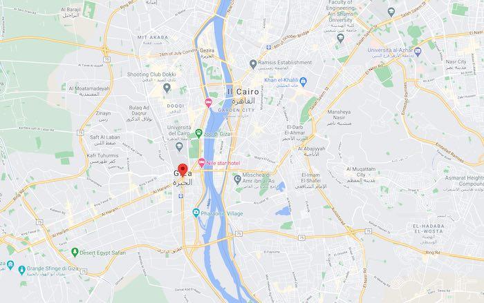 Cosa vedere a Il Cairo, mappa di Giza