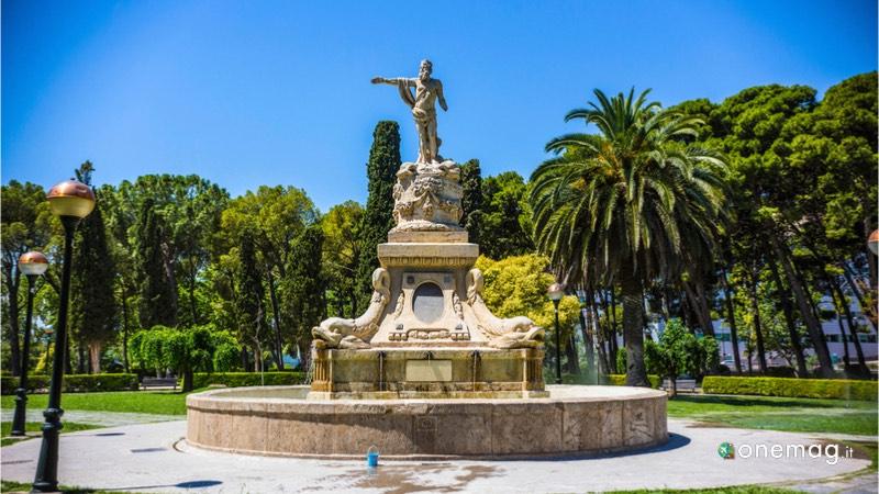 Parco José Antonio Labordeta di Saragozza, veduta fontana