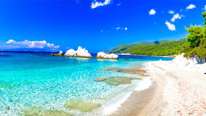 Cosa vedere a Skopelos, spiaggia di Panormos