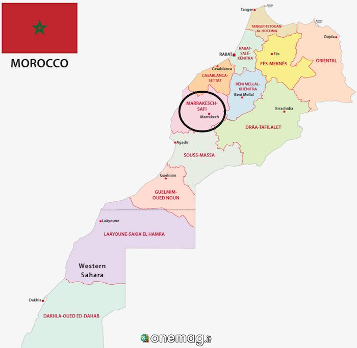 Cosa vedere a Marrakech, mappa
