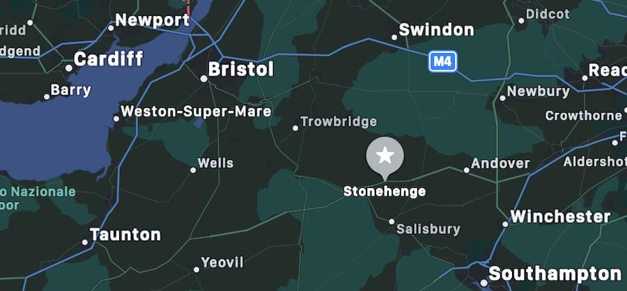 Stonehenge, mappa