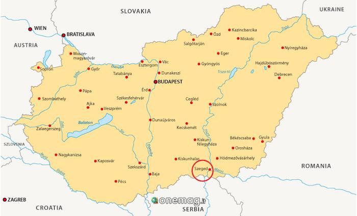 Cosa vedere a Szeged, mappa