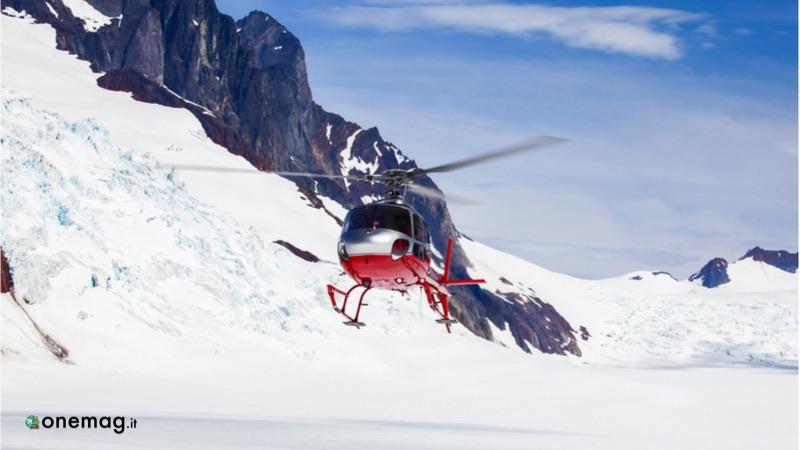 Crociera in Alaska, giro in elicottero