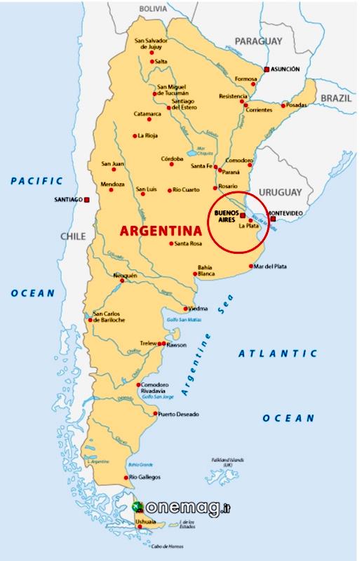 Cosa vedere a La Plata, Mappa
