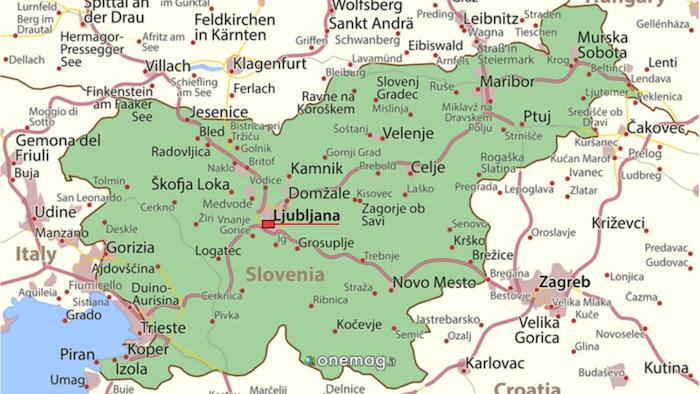 Cosa vedere a Lubiana, mappa