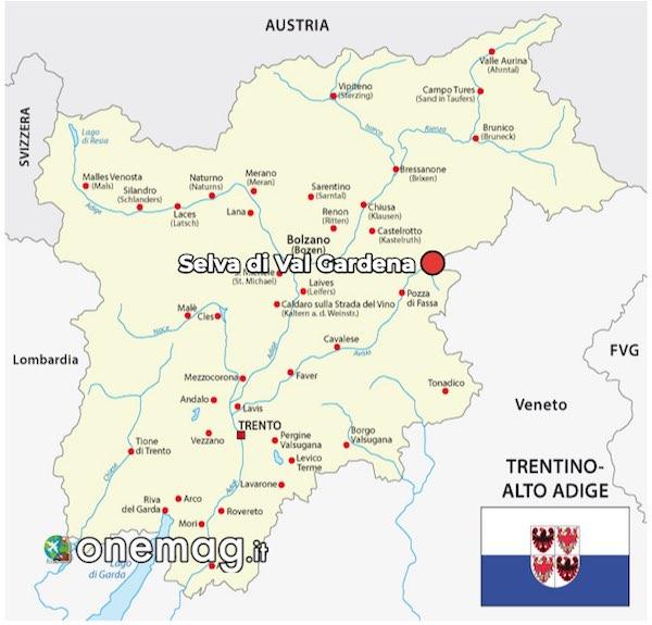 Mappa di Selva di Val Gardena