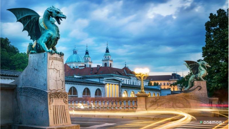 Cosavedere a Lubiana, Ponte dei Draghi
