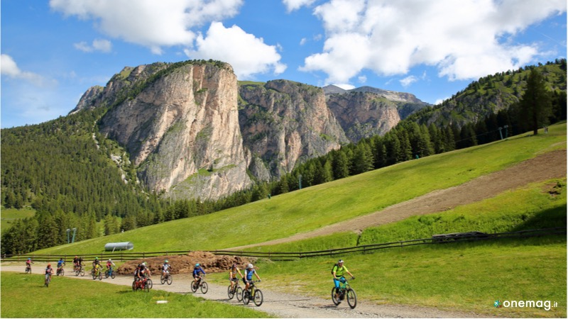 Mountain bike di Selva di Val Gardena, lo splendore delle Dolomiti