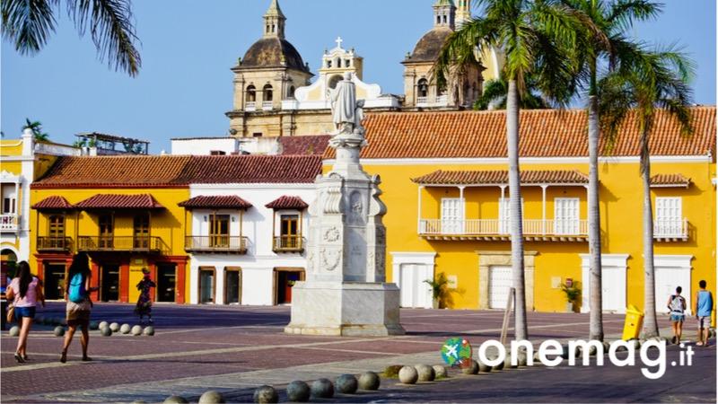 Cosa vedere a Cartagena de Indias, la Plaza Bolivar