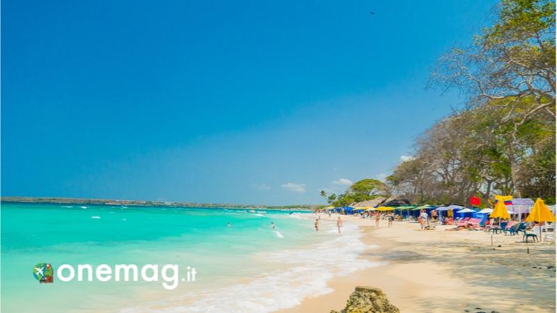 Cosa vedere a Cartagena de Indias in Colombia, le spiagge - la Playa Blanca