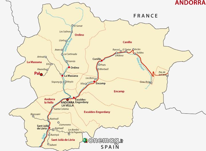 Cosa vedere a Pal, mappa di Andorra
