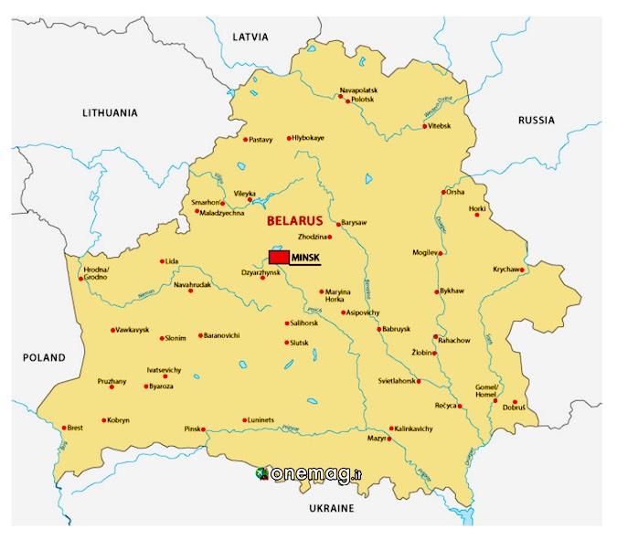 Cosa vedere a Minsk, mappa