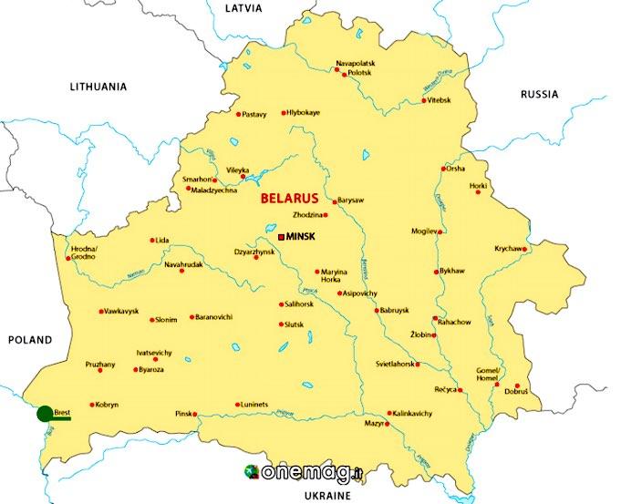 Cosa vedere a Brest, Bielorussia, mappa
