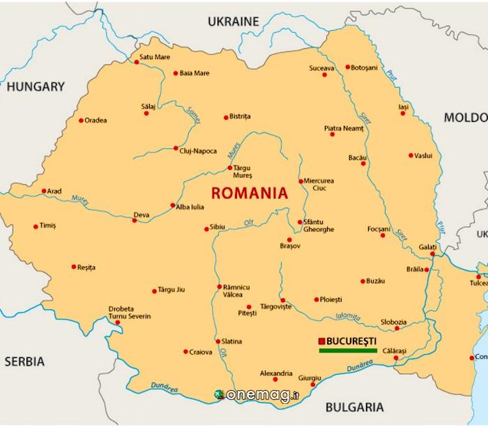 Cosa vedere a Bucarest, mappa