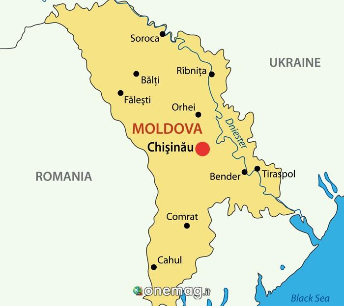 Cosa vedere a Chisinau, mappa
