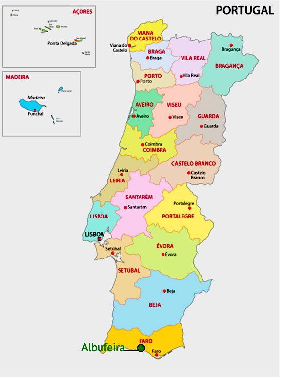 Mappa di Albufeira