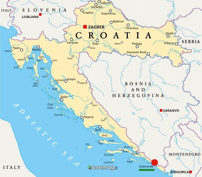 Cosa vedere a Dubrovnik, mappa
