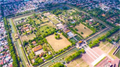 Cosa vedere a Hué, veduta aerea della Cittadella