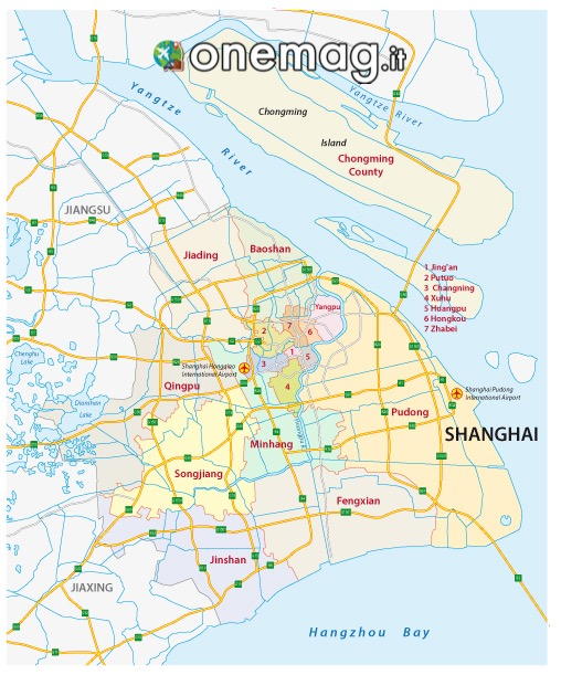 mappa di Shanghai
